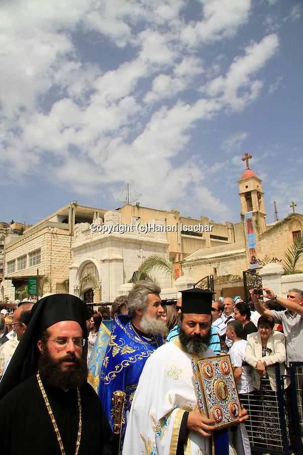 Israel, Nazareth, the Greek Orthodox Annunciation Day procession