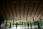 Photo shows artworks on display at the Nezu Museum in, Tokyo, Japan on 17 Sept. 2012. The  museum was  first conceptualized by pre-war industrialist Kachiro Nezu, who wanted to find a place to display and store his collection of ancient Asian artworks.  Photographer: Robert Gilhooly