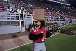 Rebel the Bear mascot wears a box over his head at the Ole Miss vs. Louisiana Tech in Oxford, Miss. on Saturday, November 12, 2011. Louisiana Tech won 27-7.