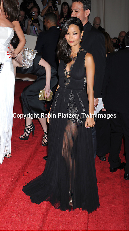 """Thandie Newton arriving at The Costume Institute Gala Benefit celebriting """"Alexander McQueen: Savage Beauty"""" at The Metropolitan Museum of Art in New York City on May 2, 2011."""