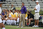 18 September 2009: LSU head coach Brian Lee. The University of North Carolina Tar Heels defeated the Louisiana State University Tigers 1-0 at Koskinen Stadium in Durham, North Carolina in an NCAA Division I Women's college soccer game.