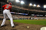 21 June 2008: Washington Nationals' infielder Kory Casto stands in the on-deck circle as Wily Mo Pena is at bat against the Texas Rangers at Nationals Park in Washington, DC. The Rangers defeated the Nationals 13-3 in the second game of their 3-game inter-league series...Mandatory Photo Credit: Ed Wolfstein Photo