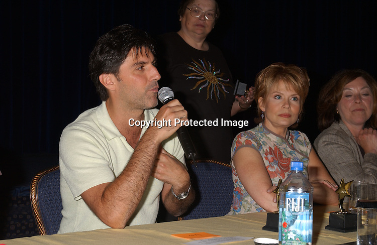Vincent Irizaarry and Julia Barr                               ..at the All My Children Fan Club Luncheon on August 10, 2003 at the Marriott Marquis in New York.                           Photo by Robin Platzer, Twin Images