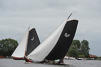 SKUTSJESILEN: GROU: SKS skûtsjesilen, Friese Sporten, 30-07-2011, Fryslân, Jouster skûtsje (Oeral Thús), Súdwesthoek (Stavoren), ©foto Martin de Jong