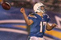 11-01-07 San Diego, CA: Philip Rivers In an NFL game played between the San Diego Chargers and the Indianapolis Colts at Qualcomm Stadium where the Chargers defeated the Colts 23-21