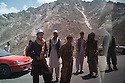 A traffic jam on the way up to the Salang tunnel in the Parwan province of Afghanistan. 2012