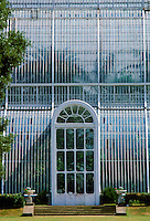 The Glasshouse, the Palm House for tropical palms, at Kew Gardens in London, England, UK