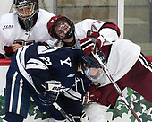 Sihak Lee (Harvard - 1), Charlie Curti (Yale - 23), Lewis Zerter-Gossage (Harvard - 77) - The Harvard University Crimson tied the visiting Yale University Bulldogs 1-1 on Saturday, January 21, 2017, at the Bright-Landry Hockey Center in Boston, Massachusetts.