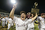 South Kitsap Wolves  (l to r) Chris Anderson, Brian Cox, Tommy Patrick and Evan Brumfield carry the 4A Championship Trophy around the field after the Wolves beat Federal Way Eagles 6-3 in the 4A Baseball Championship held at Everett's Memorial Stadium on Saturday night. Jim Bryant Photo
