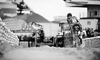 race leader Kevin Pauwels (BEL/Sunweb-Napoleon Games) flying over the sand<br /> <br /> Jaarmarktcross Niel 2015  Elite Men &amp; U23 race