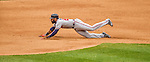 4 April 2014: Atlanta Braves right fielder Jason Heyward dives to steal second in the 5th inning of the Washington Nationals Home Opening Game at Nationals Park in Washington, DC. The Braves edged out the Nationals 2-1 in their first meeting of the 2014 MLB season. Mandatory Credit: Ed Wolfstein Photo *** RAW (NEF) Image File Available ***
