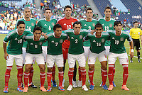 Mexico starting XI... Mexico defeated Honduras 2-1 after extra time to win the CONCACAF Olympic qualifying trophy at LIVESTRONG Sporting Park, Kansas City, Kansas.