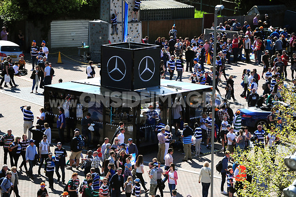 A general view of the Mercedes Benz stand. The Clash, Aviva Premiership match, between Bath Rugby and Leicester Tigers on April 8, 2017 at Twickenham Stadium in London, England. Photo by: Patrick Khachfe / Onside Images