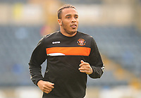 Blackpool's Neil Danns during the pre-match warm-up <br /> <br /> Photographer Kevin Barnes/CameraSport<br /> <br /> The EFL Sky Bet League Two - Wycombe Wanderers v Blackpool - Saturday 11th March 2017 - Adams Park - Wycombe<br /> <br /> World Copyright &copy; 2017 CameraSport. All rights reserved. 43 Linden Ave. Countesthorpe. Leicester. England. LE8 5PG - Tel: +44 (0) 116 277 4147 - admin@camerasport.com - www.camerasport.com