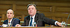 Ed Balls MP Shadow Chancellor of the Exchequer speaking at the UK Infrastructure Conference at ICE, One Great George Street, London, Great Britain on 3rd February 2015 <br /> <br /> Ed Balls MP <br /> <br /> Lord Andrew Adonis , Shadow Infrastructure Minister <br /> <br /> <br /> <br /> Photograph by Elliott Franks <br /> <br /> Image licensed to Elliott Franks Photography Services