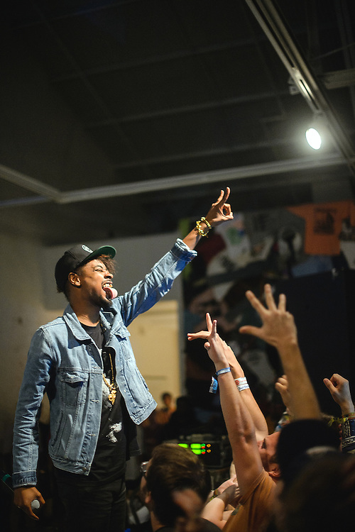 September 8, 2012. Raleigh, NC. Danny Brown performs at the Raleigh Contemporary Art Museum as part of the 2012 Hopscotch Music Festival in Raleigh, NC.