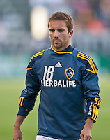 CARSON, CA – June 11, 2011: LA Galaxy forward Mike Magee (18) before the match between LA Galaxy and Toronto FC at the Home Depot Center in Carson, California. Final score LA Galaxy 2, Toronto FC 2.