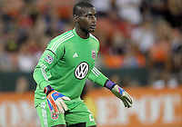 WASHINGTON, DC - AUGUST 4, 2012:  Bill Hamid (28) of DC United awaits a shot against the Columbus Crew during an MLS match at RFK Stadium in Washington DC on August 4. United won 1-0.