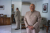 Lord Raj Loomba, founder of Loomba Foundation poses for a photo in his office in New Delhi, India. Photo: Sanjit Das for The International Herald Tribune