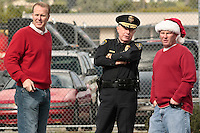 Weather window allows PB Parade to proceed, San Diego California Saturday December 8 2007.  San Diego City Councilman Kevin Faulconer (L) chatted with Police Chief Lansdowne and Mike McNeil, incoming president of Discover Pacific Beach, before the start of the parade.