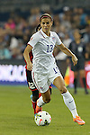 15 October 2014: Alex Morgan (USA). The United States Women's National Team played the Trinidad and Tobago Women's National Team at Sporting Park in Kansas City, Kansas in a 2014 CONCACAF Women's Championship Group A game, which serves as a qualifying tournament for the 2015 FIFA Women's World Cup in Canada. The United States won the game 1-0.