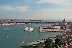 View of Chiesa di Santa Maria della Salute in Venice, Italy from the St. Mark's Campanile bell tower