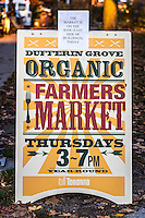 Dufferin Grove Organic Farmers Market sign