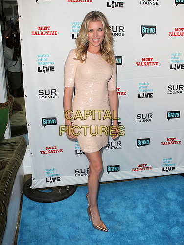 "Rebecca Romijn .Bravo's Andy Cohen's Book Release Party For ""Most Talkative: Stories From The Front Lines Of Pop Held at SUR Lounge, West Hollywood, California, USA..May 14th, 2012.full length pink peach dress sequins sequined.CAP/ADM/KB.©Kevan Brooks/AdMedia/Capital Pictures."