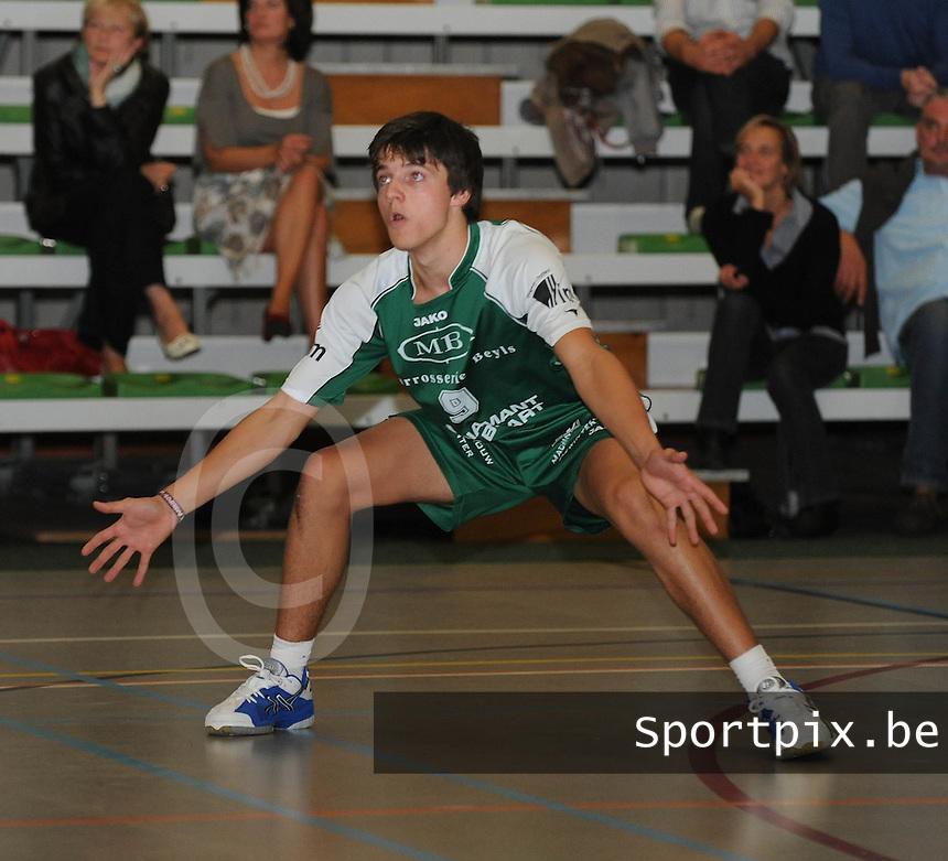 Marke Webis heren 1e divisie : Jonas Pauwels.foto VDB / BART VANDENBROUCKE