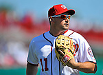 12 March 2011: Washington Nationals' third baseman Ryan Zimmerman trots back to he dugout during a Spring Training game against the New York Yankees at Space Coast Stadium in Viera, Florida. The Nationals edged out the Yankees 6-5 in Grapefruit League action. Mandatory Credit: Ed Wolfstein Photo