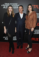 NEW YORK, NY - NOVEMBER 03:  Dominik Garcia-Lorido, Andy Garcia and Alessandra Garcia  attend the 'True Memoirs Of An International Assassin' New York premiere at AMC Lincoln Square Theater on November 3, 2016 in New York City. Photo by John Palmer/ MediaPunch