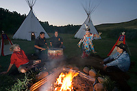 Blackfoot Crossing, Alberta, Canada, July 2008. The Siksika Nation Reserve of Blackfoot Crossing. Overnight in a Tipi acompanied by traditional dance and a story teller.  A road trip of 14 days by car takes us to the hightlights of Western Canadian cultulture, nature and history. Photo by Frits Meyst/Adventure4ever.com