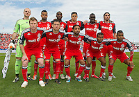 23 April 2011: The Toronto FC starting eleven during an MLS game between the Columbus Crew and the Toronto FC at BMO Field in Toronto, Ontario Canada..The game ended in a 1-1 draw.