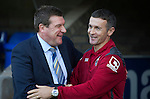 St Johnstone v Ross County...11.08.15...SPFL..McDiarmid Park, Perth.<br /> Tommy Wright and Jim McIntyre<br /> Picture by Graeme Hart.<br /> Copyright Perthshire Picture Agency<br /> Tel: 01738 623350  Mobile: 07990 594431