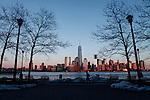 New York City Skyline winter panorama