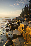 Schoodic Peninsula coastline near Schoodic Harbor in Acadia National Park, Maine