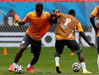 Costa de Marfil Entrenamiento / Ivory Coast Training. Brasilia, 18-06-2014