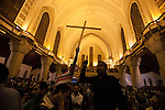 Egyptian Coptic Christians crowd into the Cathedral for a funeral for victims of sectarian violence October 10, 20011 in Cairo, Egypt. At least 26 people, mostly Christian, were killed during sectarian clashes that saw the worst violence since the Revolution that toppled former Egyptian president Hosni Mubarak earlier this year. Egyptian Coptic Christians make up about 10% of Egypt's 80 million population and periodically violence flares between the Christian minority and the majority Muslim population. (Photo by Scott Nelson)