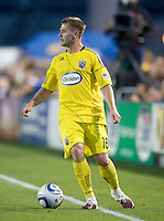 Robbie Rogers of the Crew in action during the game at Buck Shaw Stadium in Santa Clara, California on June 2nd, 2010.  San Jose Earthquakes tied Columbus Crew, 2-2.