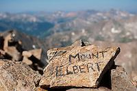 Summit of Mount Elbert (14440 ft), Sawatch range, Colorado, USA