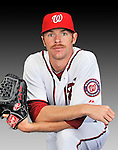 25 February 2011: Washington Nationals' pitcher Collin Balester poses for his Photo Day portrait at Space Coast Stadium in Viera, Florida. Mandatory Credit: Ed Wolfstein Photo
