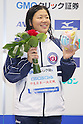 Izumi Kato, September 4, 2011 - Swimming : Misato Iwanaga celebrates wining victory during the Intercollegiate Swimming Championships, Women's 400m Individual Medley medal ceremony at Yokohama international pool, Kanagawa. Japan. (Photo by Yusuke Nakanishi/AFLO SPORT) [1090]