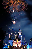 Sleeping Beauty Castle at Disneyland in Anaheim, California, USA Building, Buildings, Architectural, Structure, Architecture, High dynamic range imaging (HDRI or HDR)