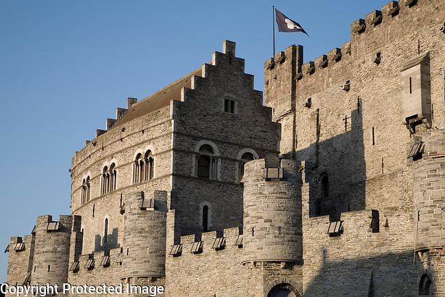 Gravensteen Castle, Ghent, Belgium, Europe