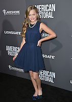 BEVERLY HILLS, CA. October 13, 2016: Hannah Nordberg at the Los Angeles premiere of &quot;American Pastoral&quot; at The Academy's Samuel Goldwyn Theatre.<br /> Picture: Paul Smith/Featureflash/SilverHub 0208 004 5359/ 07711 972644 Editors@silverhubmedia.com