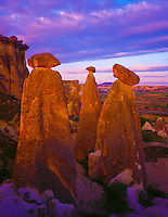 The Fairy Chimneys Goreme National Park, Turkey Cappadocia Region Volcanic deposits near Urgup 45 H IC MAY