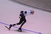 SPEEDSKATING: CALGARY: 14-11-2015, Olympic Oval, ISU World Cup, 1000m B-division, Mathias Vosté (BEL), ©foto Martin de Jong