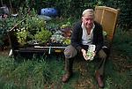 man, allotment, Egton Bridge, Gooseberry show, BRITAIN, ENGLAND, UK, BRITISH, ENGLISH, Gooseberry, Yorkshire, Annual event, Folk custom, travel stock uk,
