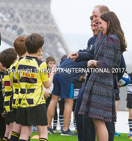 18.03.2017; Paris, FRANCE: DUKE &amp; DUCHESS OF CAMBRIDGE <br />