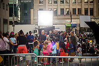 A television production involving children in Rockefeller Center in New York on Friday, October 3, 2014. (© Richard B. Levine)